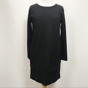 NWT COS Long Sleeve Dress Wool Blend Crew Neck